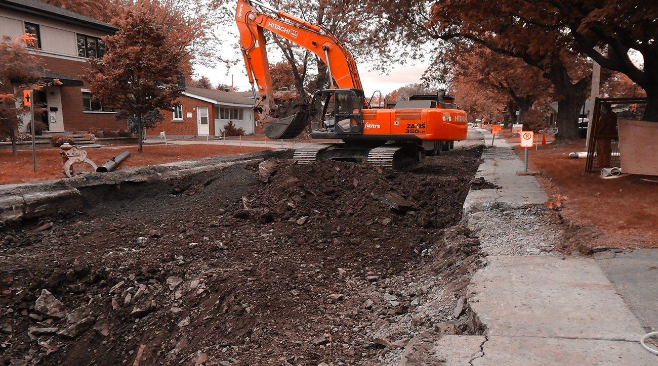 Travaux de génie civil, Infrastructures et travaux routiers